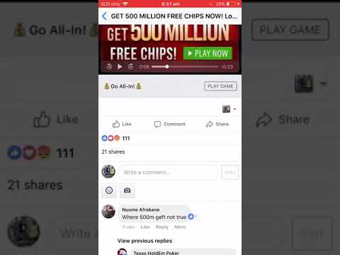 Zynga Poker Free 500million Chips To All Players Youtube
