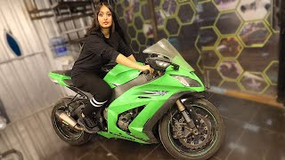 BUYING HER FIRST SUPERBIKE !!!