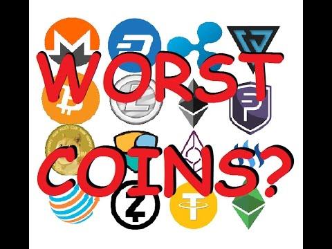Top 5 Worst CryptoCurrencies with Large Market Caps