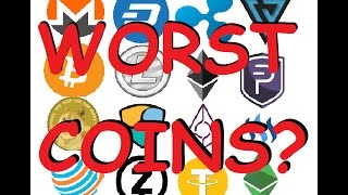 Top 5 Worst CryptoCurrencies with Large Market Caps