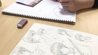 【雑談】友達のルキアとお絵描きしてみた!