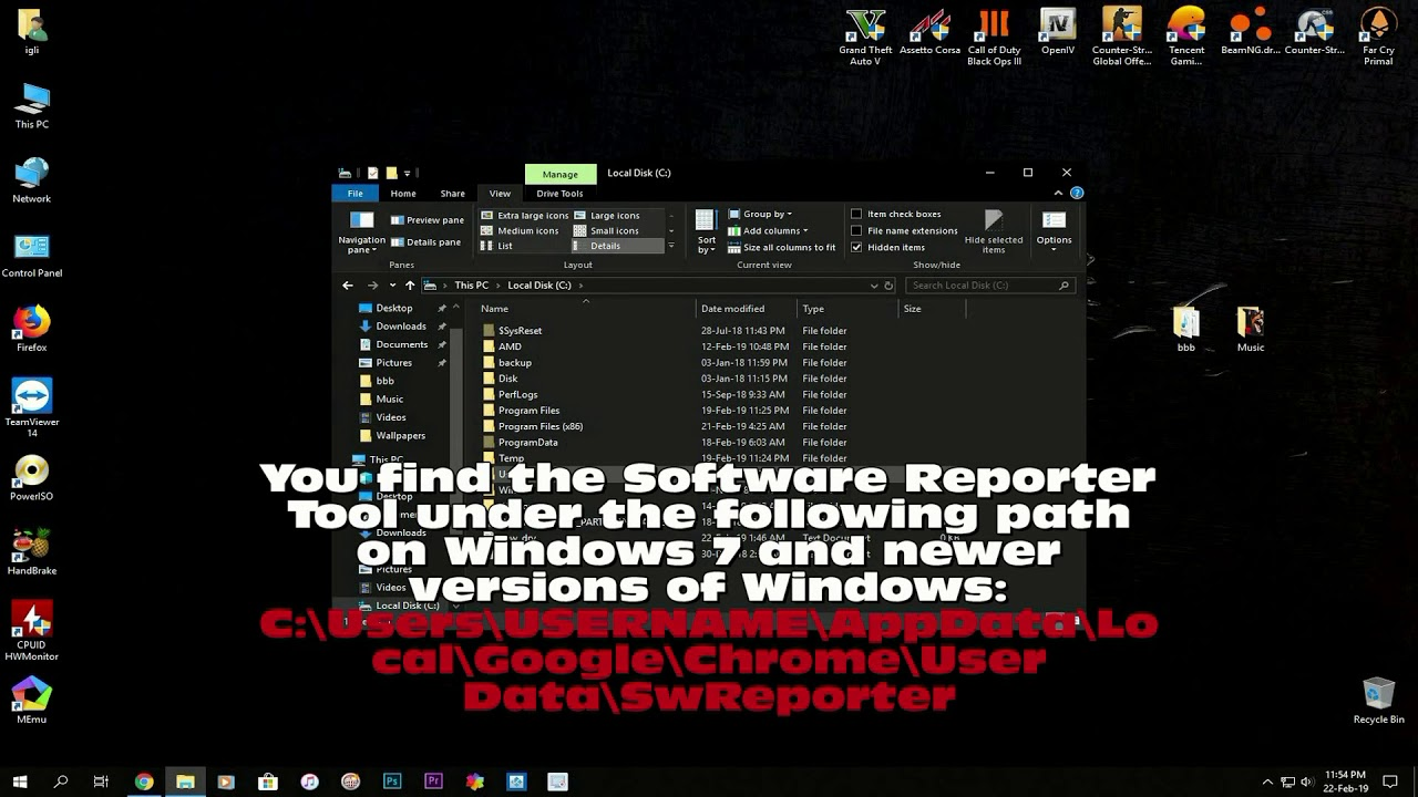 How to block the Chrome Software Reporter Tool (software_reporter_tool.exe)
