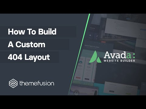 How To Build A Custom 404 Layout Video