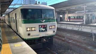 常磐線我孫子駅185系特急踊り子111号伊豆急下田行き発車シーン