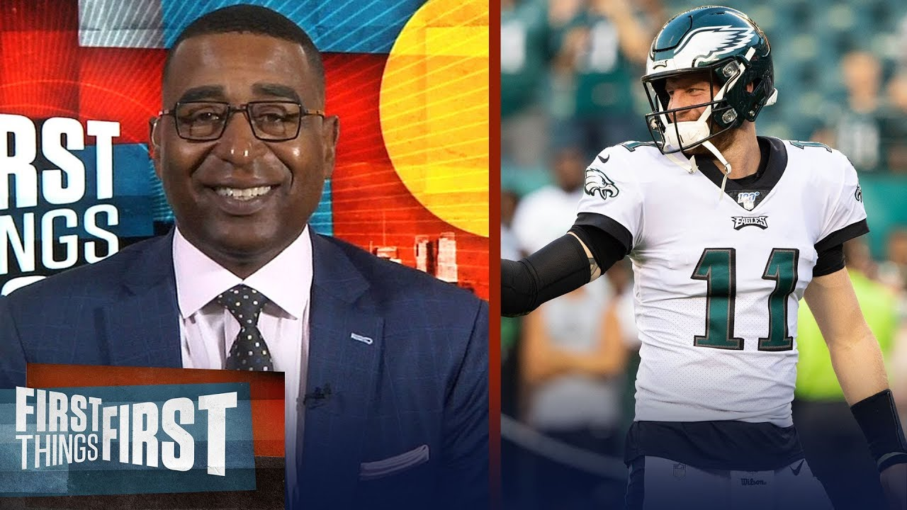 separation shoes 53ffa 9ae3a Eagles can make the Super Bowl 'if Carson Wentz is better' — Cris Carter |  NFL | FIRST THINGS FIRST