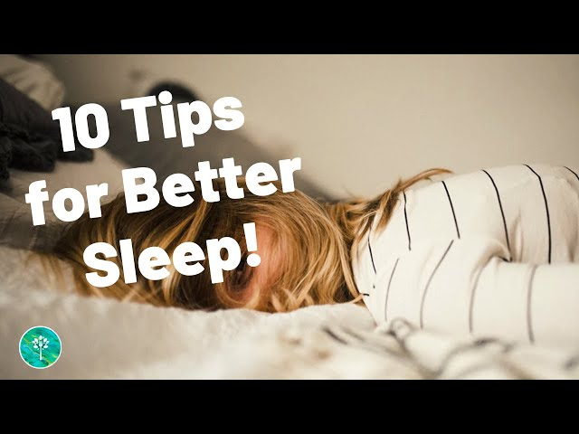 10 Tips to Improve Sleep Naturally