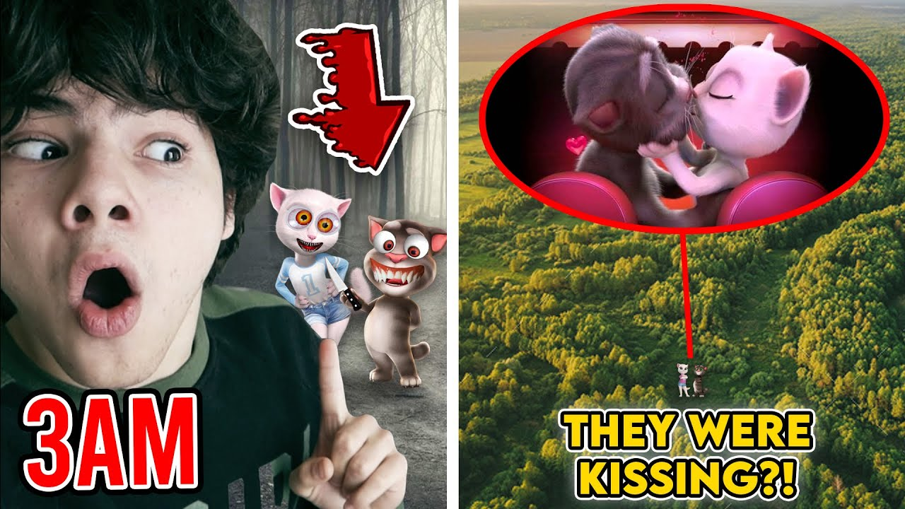 DRONE CATCHES CREEPY TALKING TOM & ANGELA KISSING AT 3AM!! (ON CAMERA)