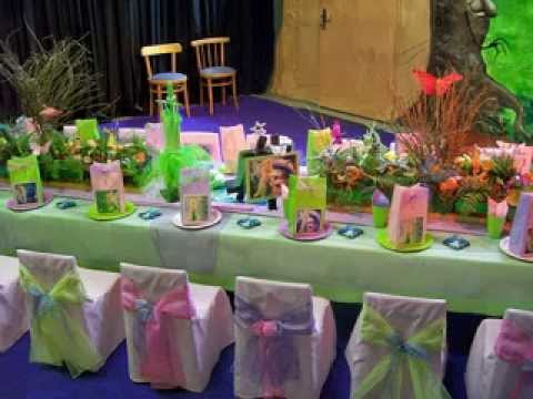 Cute Tinkerbell birthday party decor ideas - YouTube
