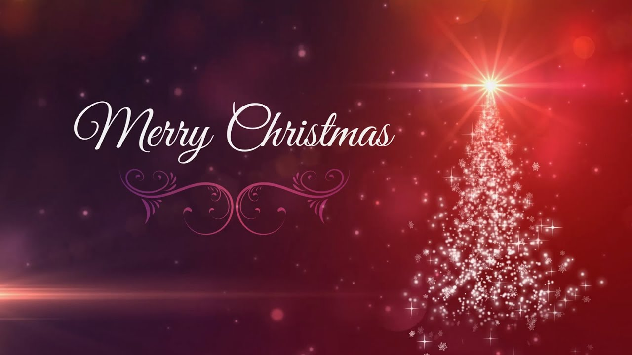 Merry Christmas Card Motion Graphics Background Loop Youtube