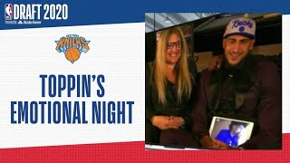 NYC Native Obi Toppin Gets Emotional After Being Drafted To The Knicks | 2020 #NBADraft