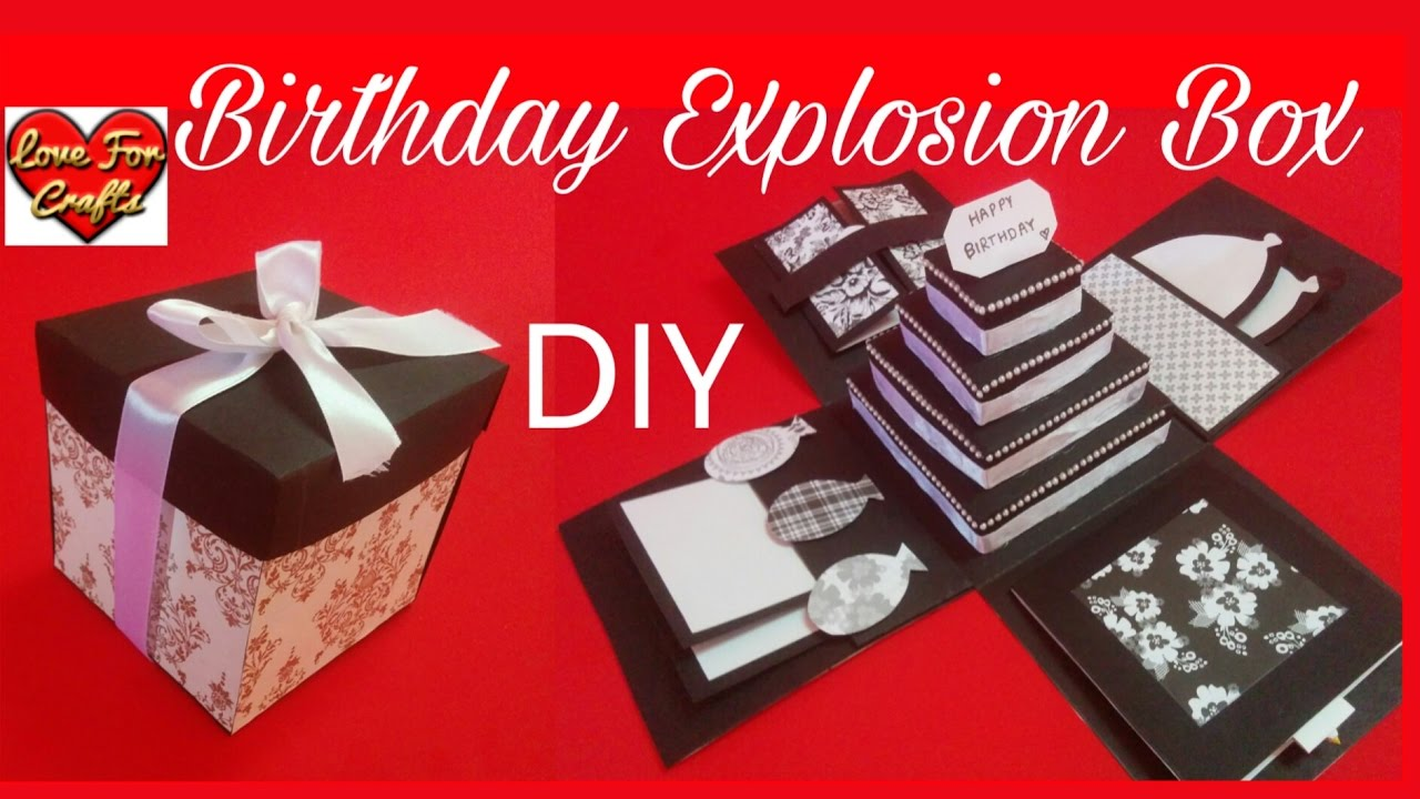 Birthday Explosion Box | DIY | How to Make Explosion Box - YouTube