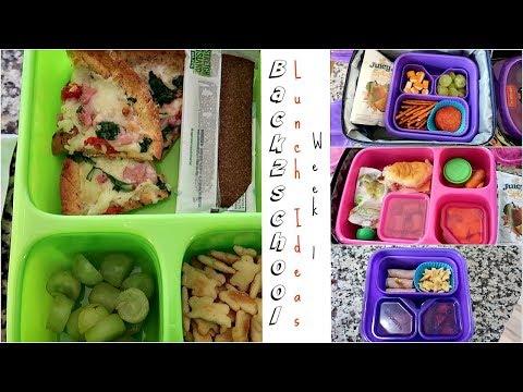 School Lunch Ideas! | Back to School | Week 1