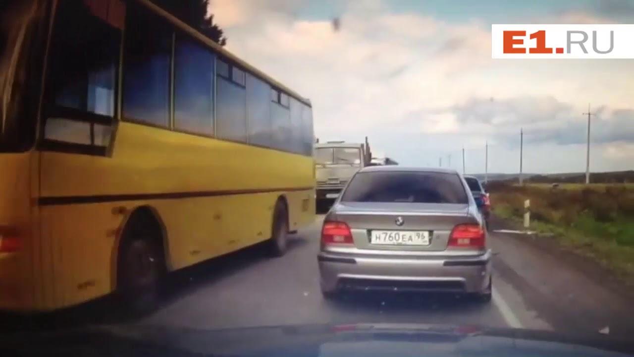 Страшная авария на Полевском тракте попала на запись видеорегистратора