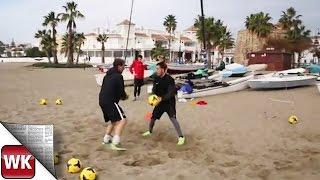 SVWW Keeper trainieren am andalusischen Strand
