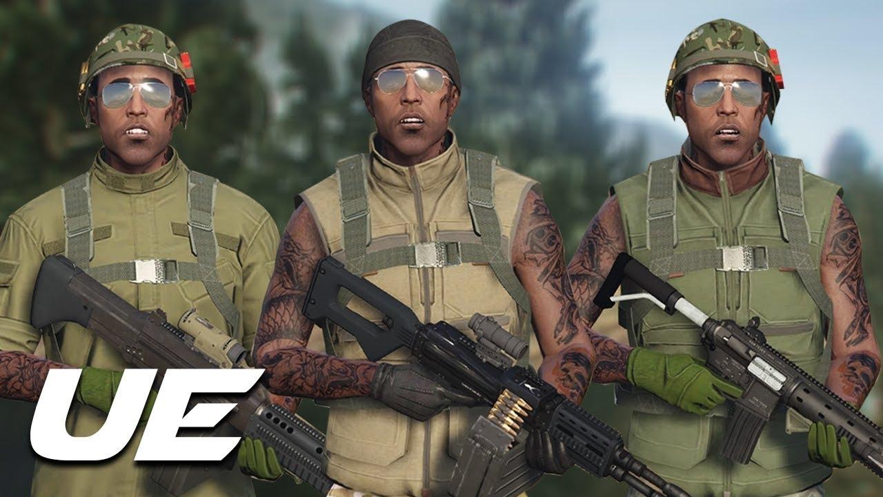 Gta V Online Best Military Outfits Vietnam War Youtube