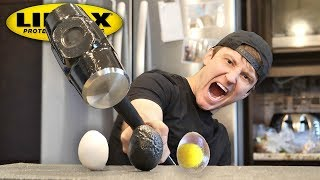 THIS SPRAY MAKES ANYTHING UNBREAKABLE!! (LINE-X EGG EXPERIMENT) As Seen On TV Test!