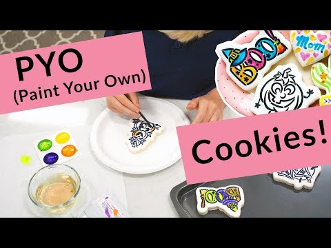 Paint Your Own (PYO) Cookies with Edible Paint Palettes