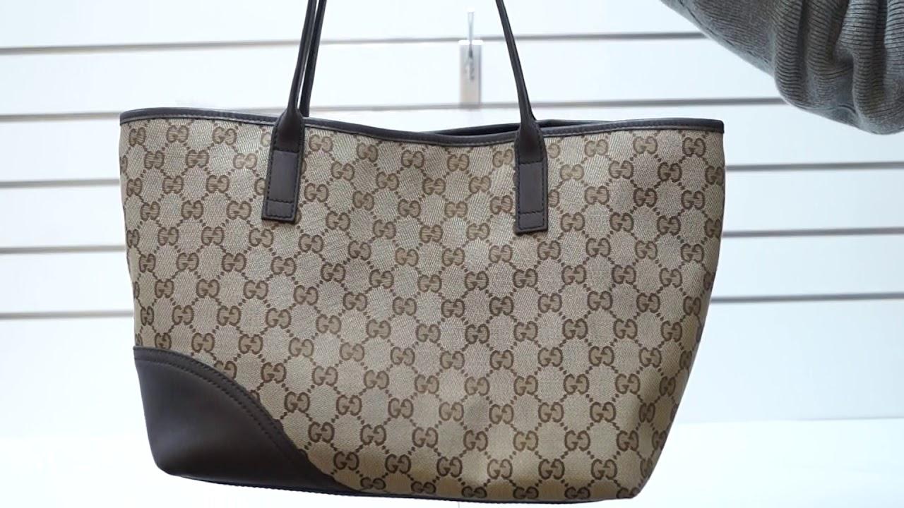 e5632941e85c GUCCI New Britt Medium Monogram Canvas Tote Shoulder Bag TT2993 ...