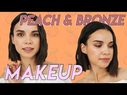 Peach  Bronze Makeup for Spring & Summer  Ingrid Nilsen