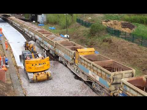 Thumbnail: Micklefield Junction: Track replacement time lapse footage
