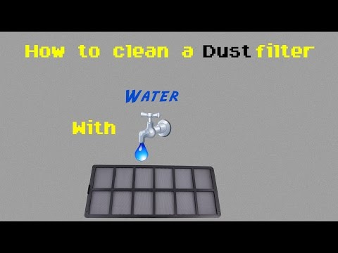 How to properly clean a dust filter