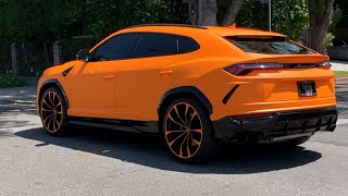 Very Orange Lamborghini Urus, Slammed Ferrari F430 & Behind the Shop.
