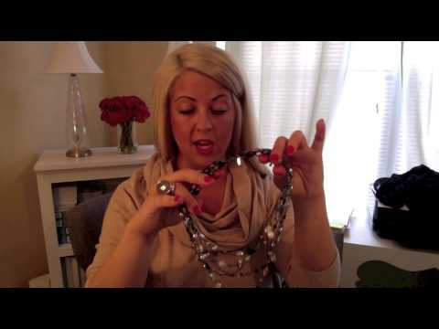 How to wear necklaces with a cowl neck sweater or scarf, by Liz ...