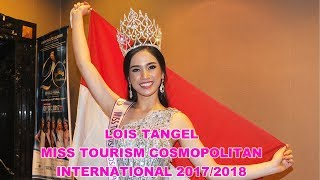 Congrats Lois Tangel Winner Miss Tourism Cosmopolitan International 2017/2018