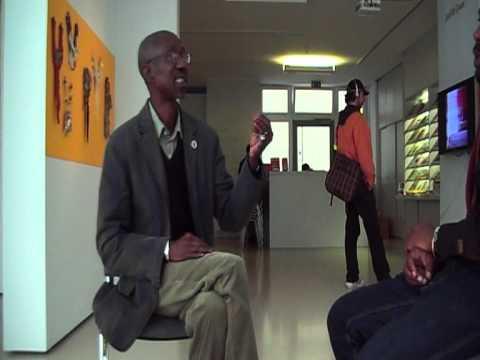 Kevin interviews Dr. Maguèye Kassé, Dakar, curator of the DAK'ART 2008
