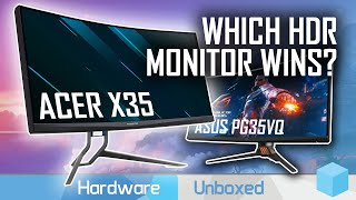 Acer Predator X35 vs Asus PG35VQ, Battle of the Ultimate HDR Monitor