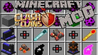 Minecraft CLASH OF CLANS MOD / MOBS,CANNONS,PEKKA,ARCHERS,TOWERS AND MORE / CLASH ROYALE
