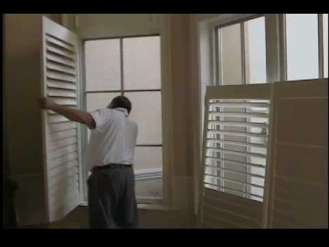 shutters install hanging strip youtube. Black Bedroom Furniture Sets. Home Design Ideas