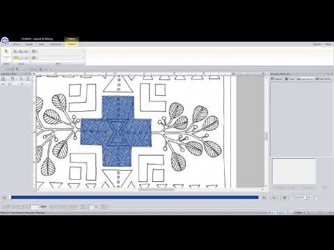 Brother PE Design Video's  - Desert Dreams Digitizing Class - Block Four Rug