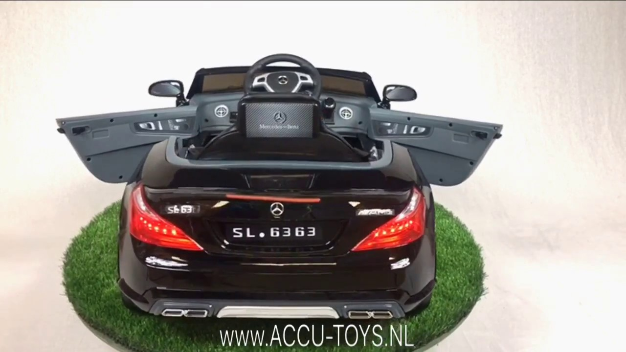 Verwonderlijk Elektrische kinderauto Mercedes SL63 met afstandsbediening - YouTube OD-72