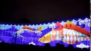 """""""3D Шоу - Новогоднее Путешествие"""" от компании Аэрофлот на Дворцовой площади в Санкт Петербурге 2015"""