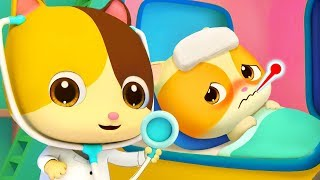 Kitten Timi Got Sick | Sick Song | Doctor Cartoon | Nursery Rhymes | Kids Songs | BabyBus