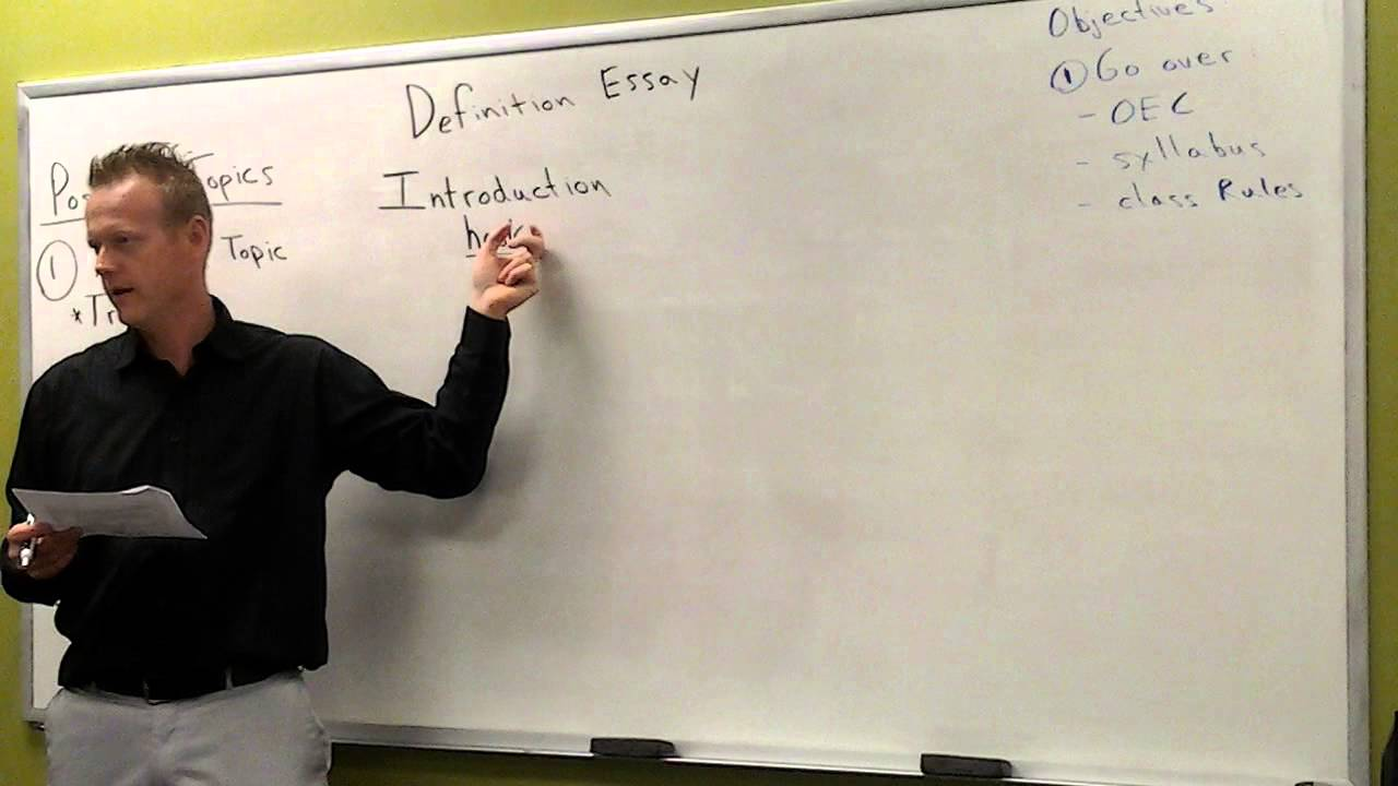 What is a definition essay?