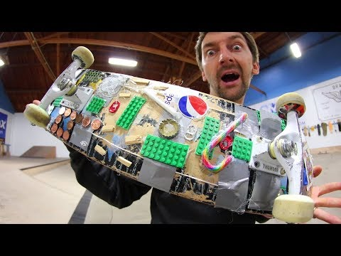 THE CRAZY EVERYDAY USE SKATEBOARD!  YOU MAKE IT WE SKATE IT EP 162