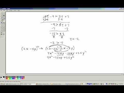 Accuplacer Math Placement test 3 (Algebra section) Part 1 ...