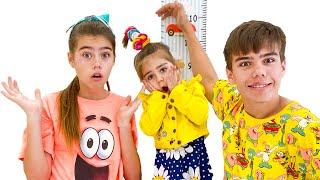Nastya und Artem erlauben Mia nicht auf dem Trampolin zu springen   Lehrreiche Geschichte