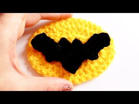 Murcielago a Crochet (Logo Batman) | How to crochet a BAT applique ...