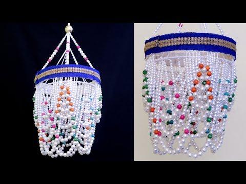 Easy Pearl Jhumar Idea || Unique Wall Hanging Craft || DIY Room Decorative idea
