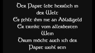 Die Streuner - Papst und Sultan (Lyric)