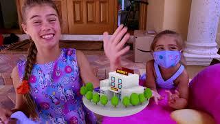 Nastya makes a new sweets for Artem Настя делает новые сладости для Артема