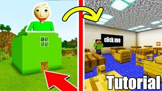 "Minecraft: How To Make Baldis Classroom ""Baldis Secret Base"""
