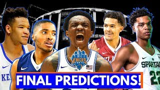 WHO WILL THE KNICKS DRAFT AT 9!?🔥  Knicks Draft 2018 Final Predictions!!