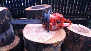 Husqvarna 365 X-torq Chainsaw Easy Cut Sawhorse Goethe