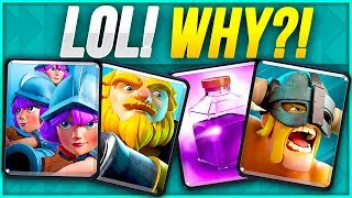 THESE DECKS ARE NUTTY! Crazy Clash Royale Ladder Opponents!