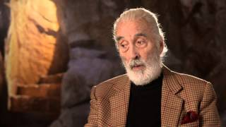 """The Hobbit: The Battle Of The Five Armies: Christopher Lee """"Saruman"""" Behind The Scenes Interview"""