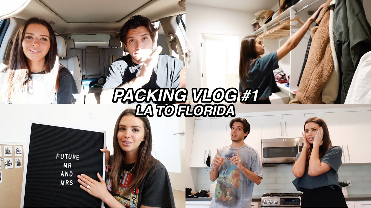 Packing Up Our LA Home!! closet, storage etc! (packing vlog 1)